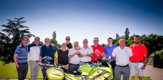 The Russell Roof Tiles team at their annual charity golf day.