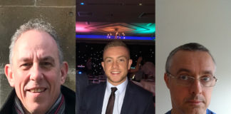 (Left to Right) Richard Gay, Andy Moores, Chris Roughneen