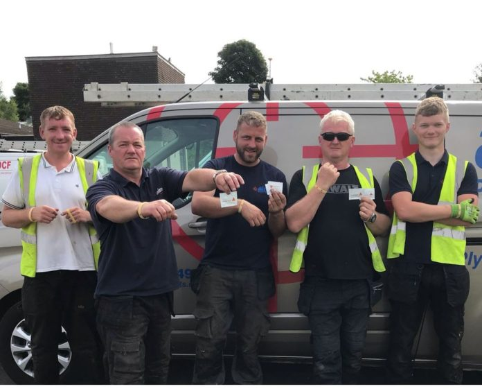 Sika has issued its customers with branded UV wristbands which alert the wearer when they have undergone too much UV exposure by changing colour.