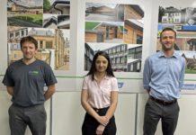 (From L to R): Andrew Mackenzie, Aamirah Nawaz, Alex Wilson.