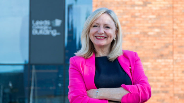 Tracy Brabin, mayor of West Yorkshire, tours the Leeds College of Building South Bank Campus.